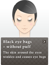 Black eye bags ? without puff